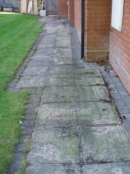 Pathway area requiring cleaning