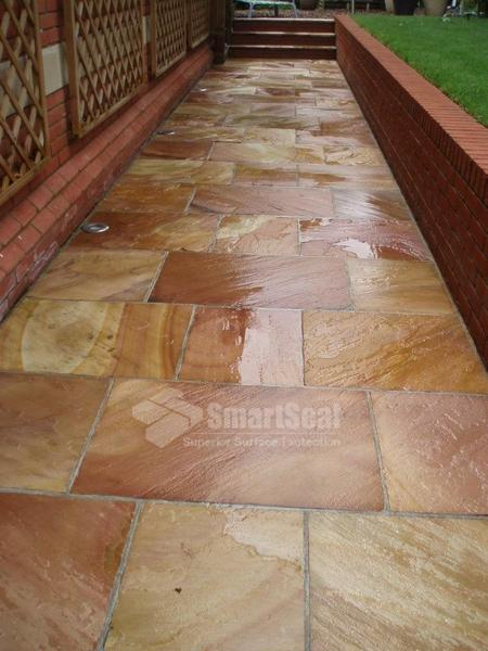 Slabbed pathway after cleaning & sealing